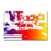 Boniday - Tableau Plexi Taxi Rainbow 55 x 80 cm