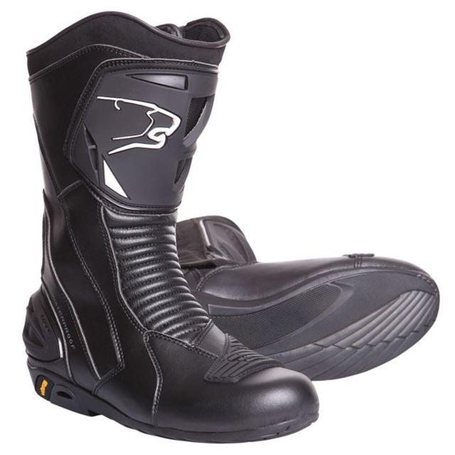 bottes moto cuir SPORT GT route étanche X ROAD noir BBO100