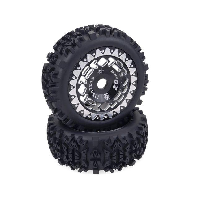 2pcs 120mm jantes et pneus pour 1/8 équipe HPI HSP VRX Hobao RC voiture tout-terrain