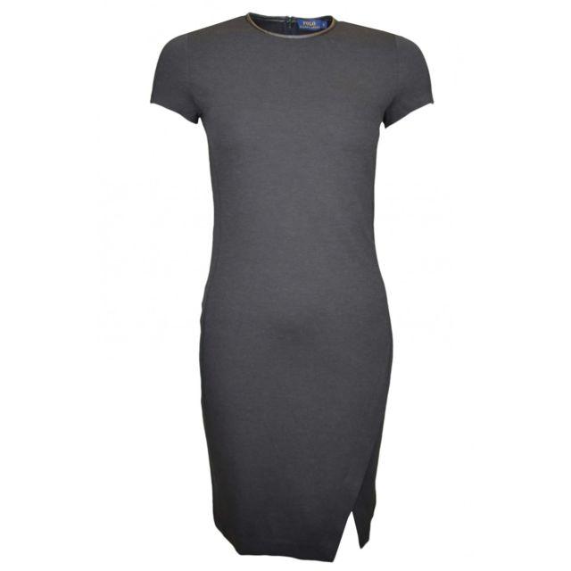9b133b10f30 Ralph Lauren - Robe Heather noire pour femme - pas cher Achat   Vente Robes  - RueDuCommerce