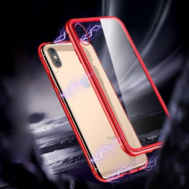 coque iphone xs magnetique en verre trempé