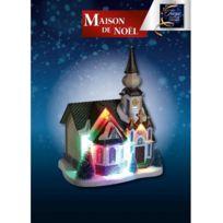 Jja - Maison de Noël lumineuse modèle église