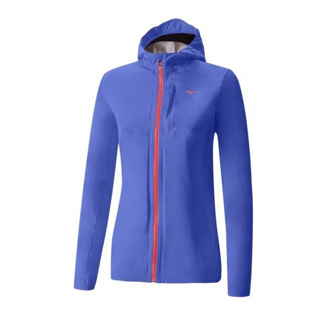 Mizuno Waterproof 20K Jacket Bleue Et Rose Veste running