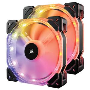 Lot de 2 ventilateurs PWM HD140 RGB LED 140 mm Corsair