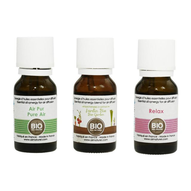 AIR NATUREL Pack de trois synergies d'huiles essentielles Bio PA3HE01