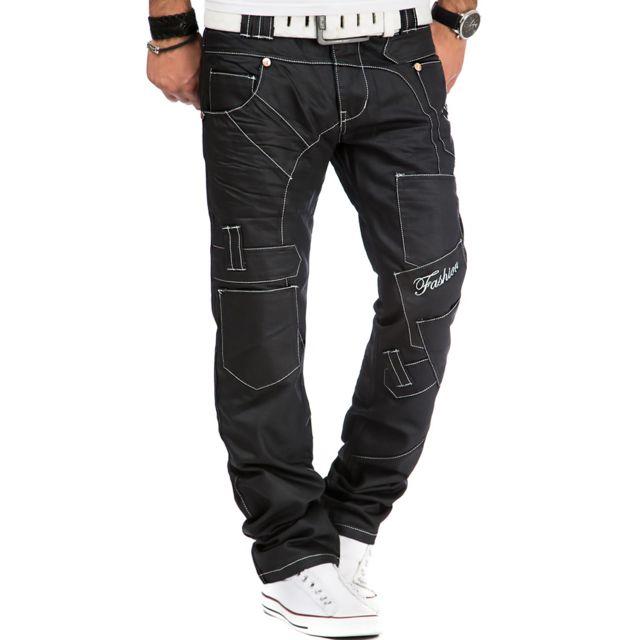 Kosmo Lupo Jean fashion Jean homme 120 noir