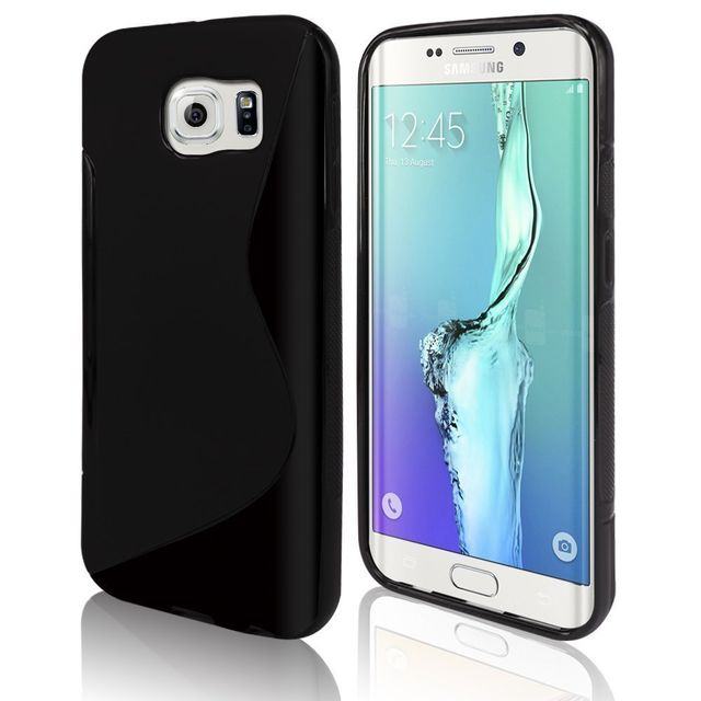 568e5b7964b414 Cabling - Coque Noir Samsung Galaxy S7 en Silicone Souple - S line - pas  cher Achat   Vente Coque, étui smartphone - RueDuCommerce