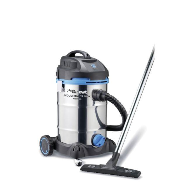 Ewt aspirateur eau et poussière 30l 1600w bi turbine