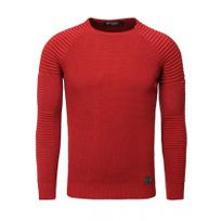 Beststyle - Pull homme pas cher rouge