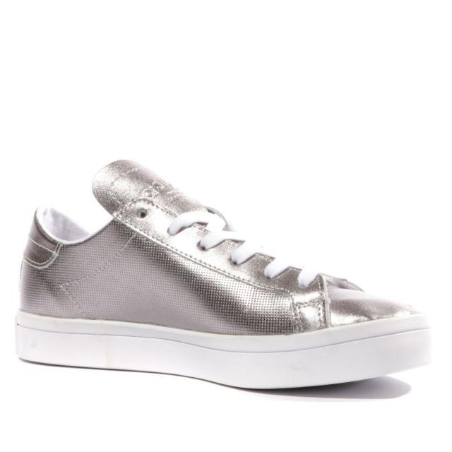 Adidas Courtvantage Femme Chaussures Argent Gris 40 23