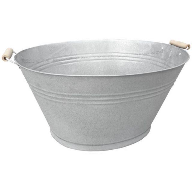 AUBRY GASPARD - Jardinière bassine en zinc givré Gris - 52cm x 27cm x 38cm