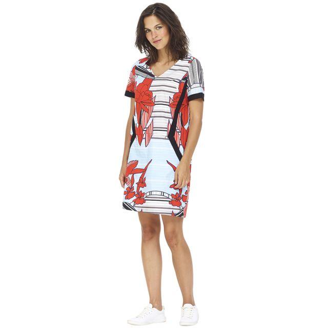 a765d565da5 Mado Et Les Autres - Robe colorée forme droite 19EROB105 Femme Printemps Eté  2019