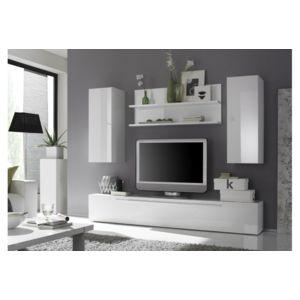 Envie de meubles ensemble meuble tv mural laqu glossy g for Envie de meuble