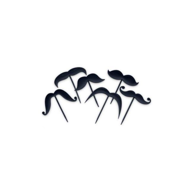 Pics en forme de moustache - Lot de 12 picks apéritifs - Bitten