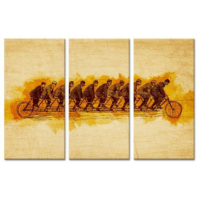 Declina - Cadre triptyque vélo effet d'optique sur toile pas cher