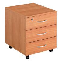 - Caisson mobile 3 tiroirs bois merisier