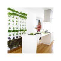Vertical - Kit de Jardin Végétal Vertical Gris à 3 niveaux - 9 modules