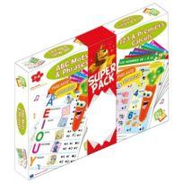 zig zag educatif - Lot maxi fiches ABC et 123