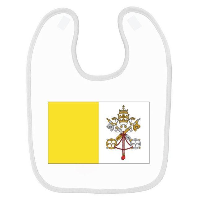 1a8ca77053d1 Mygoodprice - Bavoir bébé imprimé drapeau vatican Blanc - pas cher ...