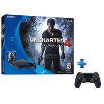 SONY - Nouvelle PS4 1To D Black + Uncharted 4 + Dual Shock 4 - V2 - NOIRE