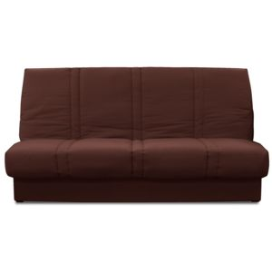 Soldes relaxima banquette lit clic clac chocolat dalila for Banquette lit soldes