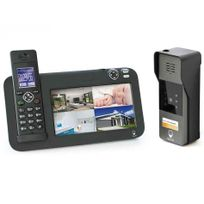 Scs Sentinel - Kit interphone vidéo évolutif 200M Dect - 1 platine de rue - 1 platine de rue