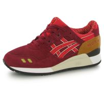 Asics - Gel Lyte 3 rouge, baskets mode femme