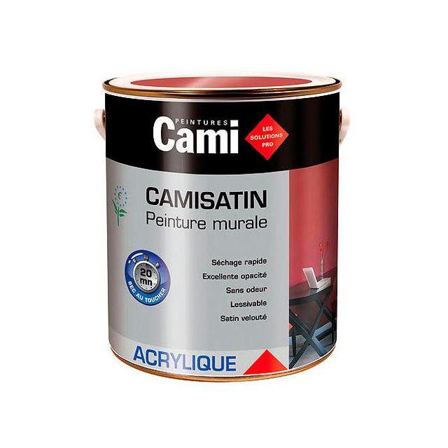 Cami peinture mur et plafonds acrylique satin e 2 5l for Peinture mur et plafond pas cher