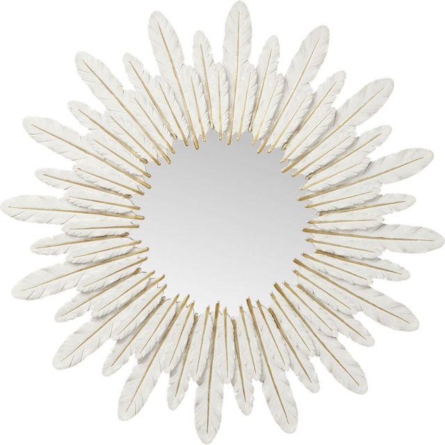 Karedesign Miroir plumes blanches 57cm Kare Design