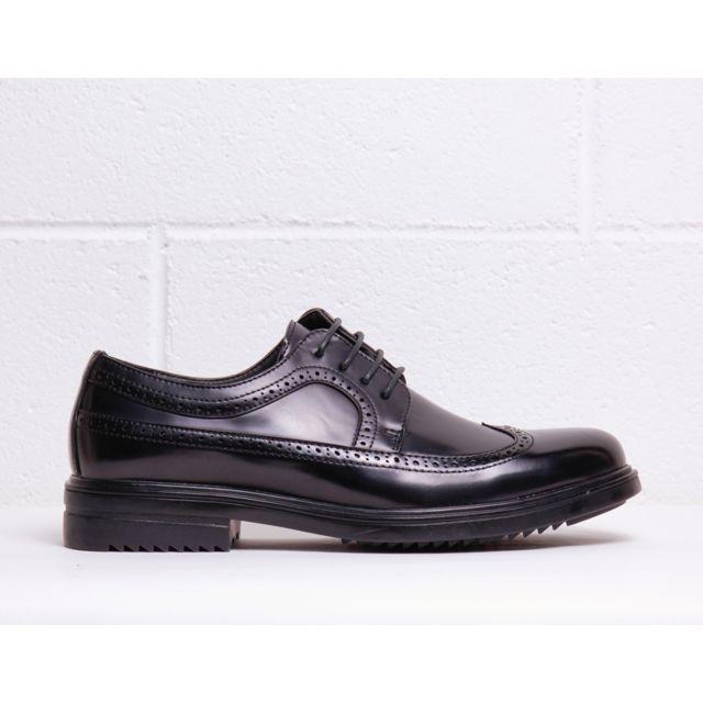 Buzzao Chaussures de ville à lacets bout rond et semelle dentée noir homme - Duca di Morrone - Richard