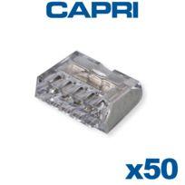 Capri - Bornes automatiques 5 entrées Gris Boite de 50 pièces