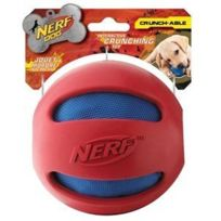 Nerf - Jouet chien dog crunchable ball rouge