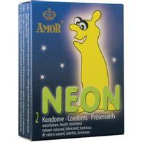 Amor - Preservatif Neon Glowing 2 Units