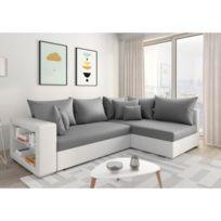 2 Kawa Convertible Chloe Gris Design Blanc D'angle Canapé Et 4LR35Aj