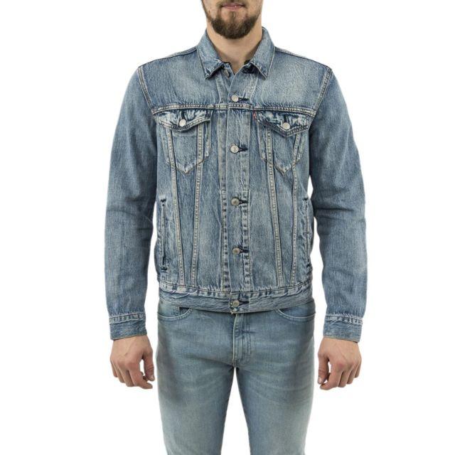 Blousons bleu jacket et vestes charlie the trucker levis DI29HE