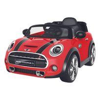 Happy Garden - Voiture électrique Mini Cooper - rouge
