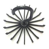 Wewoo - 2 Pcs 18 griffes 360 noir degrés pivotant cravate Rack ceinture  porte-écharpe 009f7e84aa5