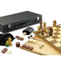 Gibsons - Set De Jeux 3 En 1 : ÉCHECS, Backgammon Et Dames - Langue: Anglais