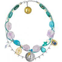 Reminiscence - Promo Collier et pendentif Gaia 2TC8S - Collier et pendentif Cristal Turquoise Femme