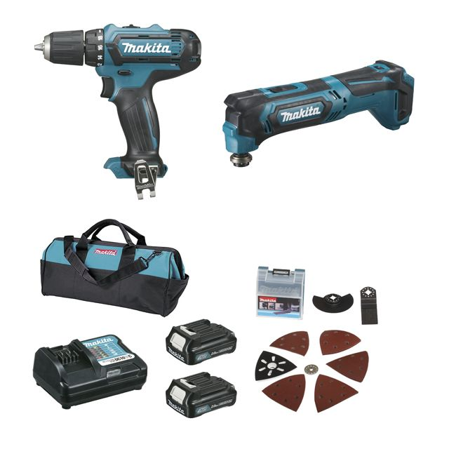 makita pack 2 machines cxt kit d 39 accessoires df331d. Black Bedroom Furniture Sets. Home Design Ideas