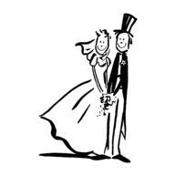 Artemio - Tampon en bois Jeunes mariés - Artémio