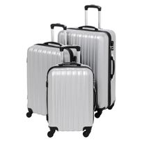 Gentleman Farmer - Set de 3 Valises Rigide Abs 4 Roues 48-60-70cm Gfv203 Silver