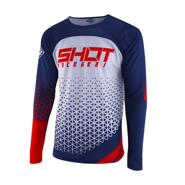 SHOT Maillot Contact Score Taille L Rouge//Blanc