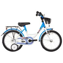 Vermont - Vélo Enfant - Capitaine - Vélo enfant 16 pouces - blanc/bleu