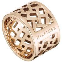 Tommy Hilfiger Bijoux - Promo Bague Tommy Hilfiger Jewelry 2700744 - Bague Doré Ajouré Femme