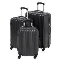Gentleman Farmer - Set de 3 Valises Rigide Abs 4 Roues 48-60-70cm Gfv203 Noir