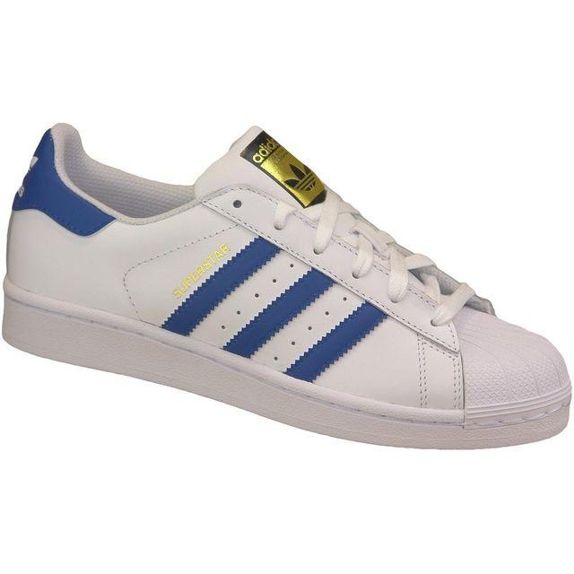 Adidas - Superstar J Foundation S74944 Enfant mixte Baskets Blanc