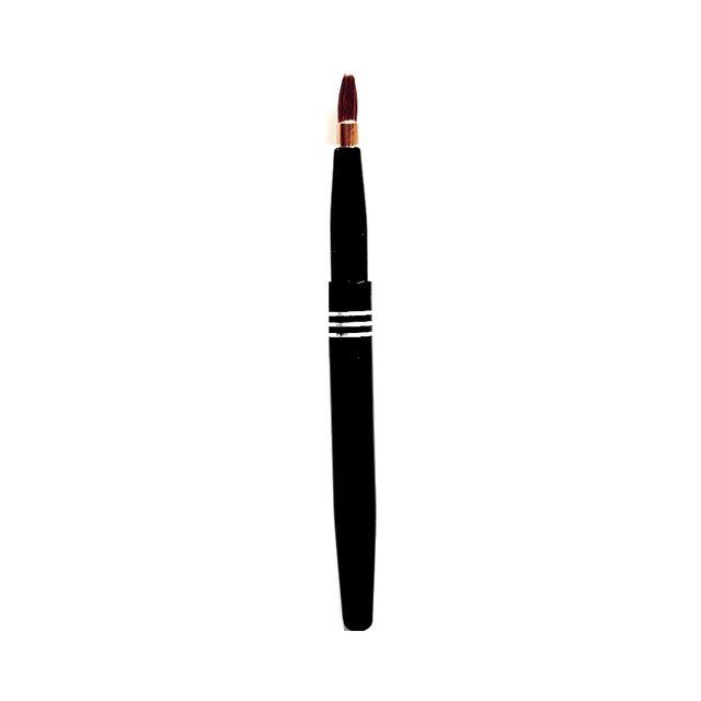 Aurore Beaute - Aurore Beauté : Pinceau à lèvres rétractable étui en métal noir