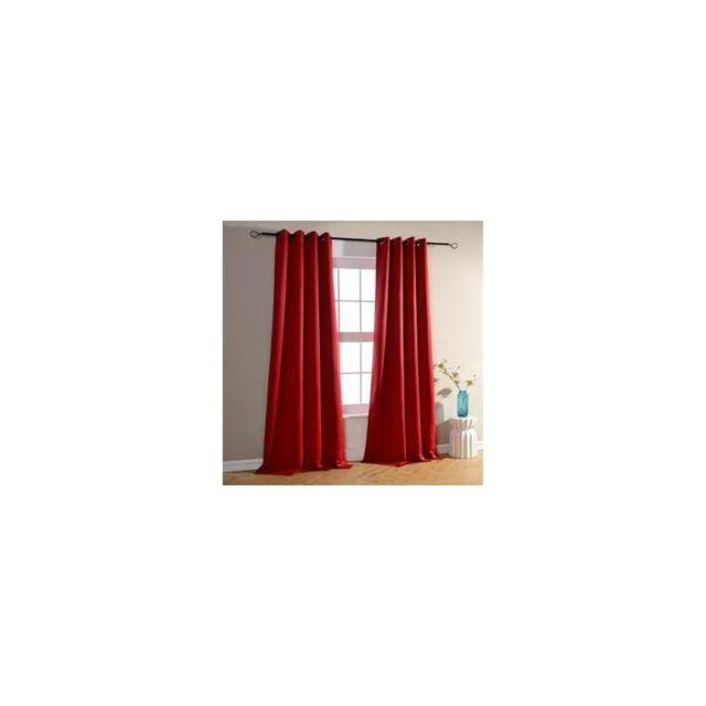 Lm-distribution - Rideau occultant 140 x H260 cm, Rouge Pompei - pas ...