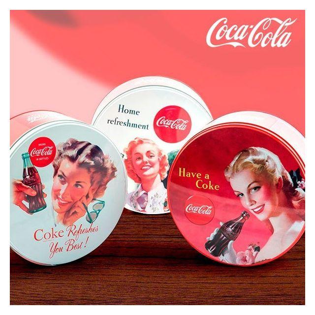 Totalcadeau Boîte vintage ronde Coca-Cola en Métal - Rangement cuisine